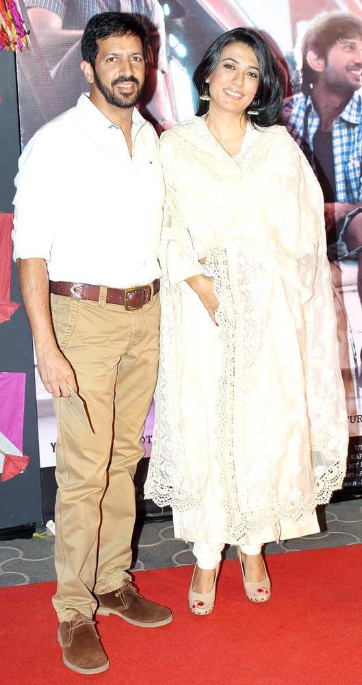Kabir And Wife Mini Spotted At Kai Po Che Premiere Show Event