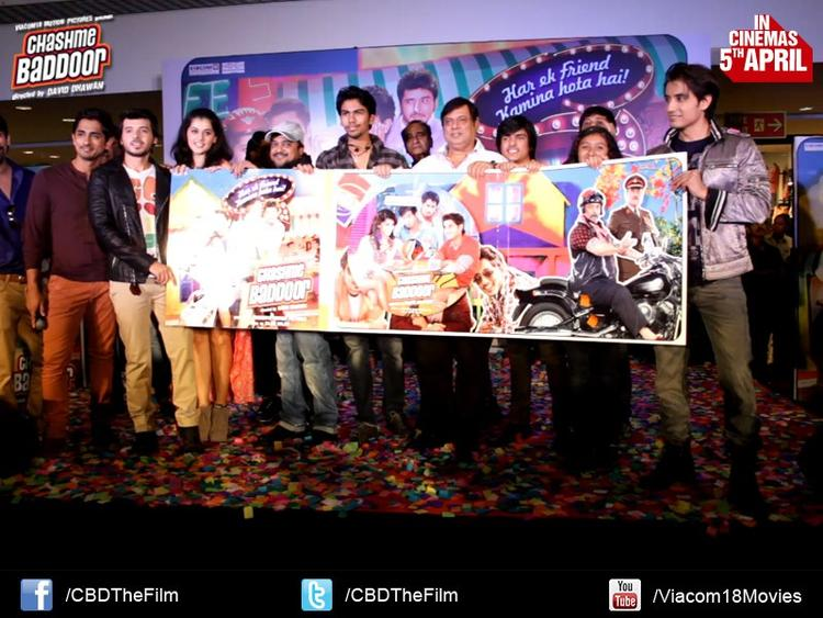 The Team Members Launch The Audio Of Movie Chashme Baddoor