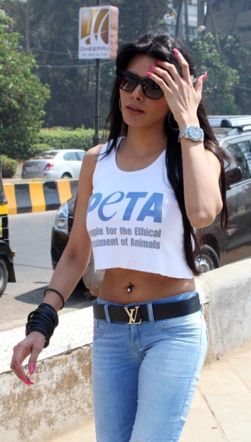 Sherlyn Chopra Walks In At Promotion Of PETA's Safe Sex For Animals Campaign