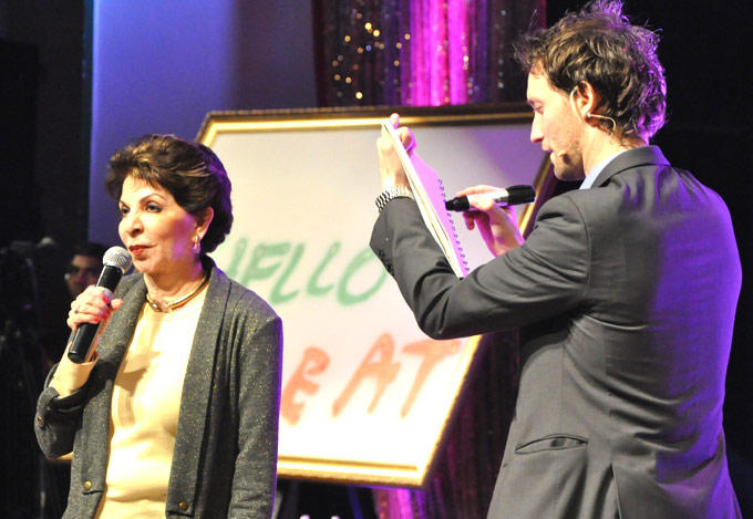 Lior Guessing Sabira Photo Clicked At Lior Suchard Mind Read Show