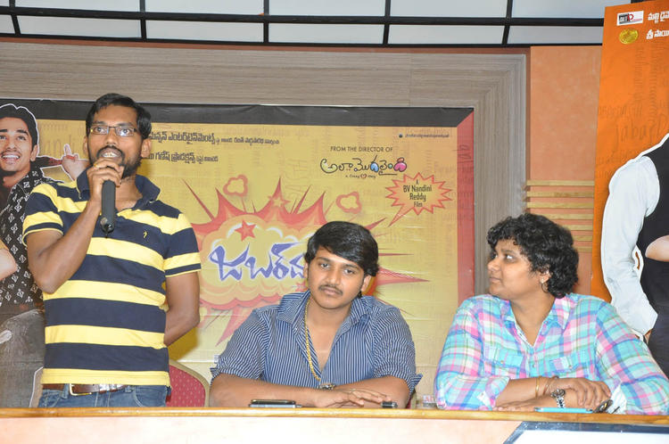 Nandini With Team Members Spotted At Jabardasth Press Meet