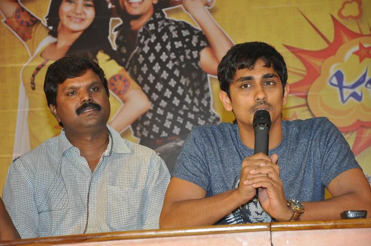 Siddharth Addressed The Audience At Jabardasth Press Meet