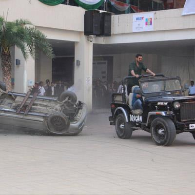 John Abraham In A Jeep On The Sets Of Shootout At Wadala