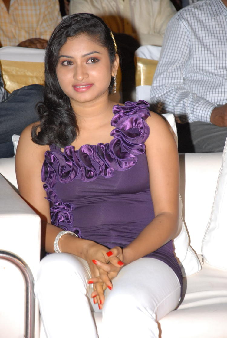 An Actress Smiling Photo Clicked At Jai Sriram Audio Launch Function
