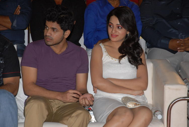 Reshma With A Friend Snapped At Jai Sriram Audio Launch Function
