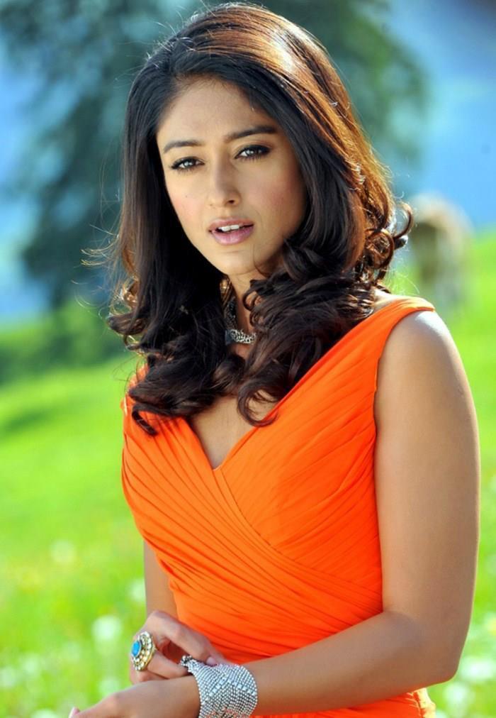 Ileana Charming Look Photo Still In Orange Dress