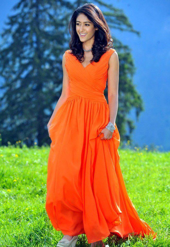 Ileana Looked Marvelous Photo Still In An Orange Gown