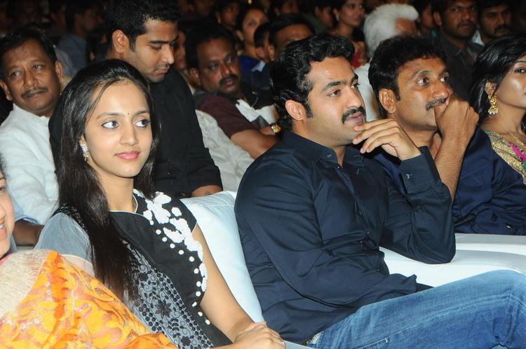 Lakshmi Pranathi With Hubby Jr. NTR At Badshah Audio Launch Function