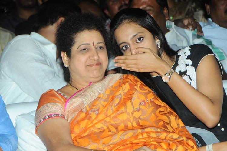 Shalini And Lakshmi Chatting Still At Badshah Audio Launch Function