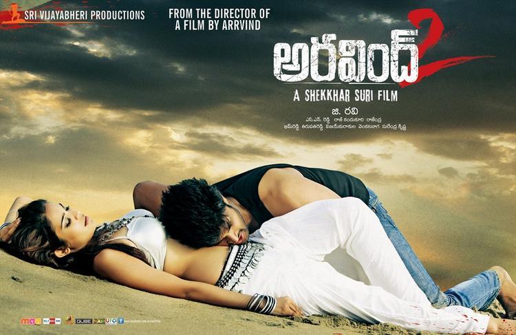 Srinivas And Adonica Sexy Hug On Beach Photo Wallpaper Of Movie Arvind 2 Movie