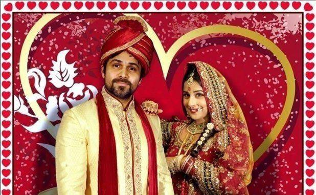 Emraan And Vidya In Bridal Costume Photo Still From Movie Ghanchakkar