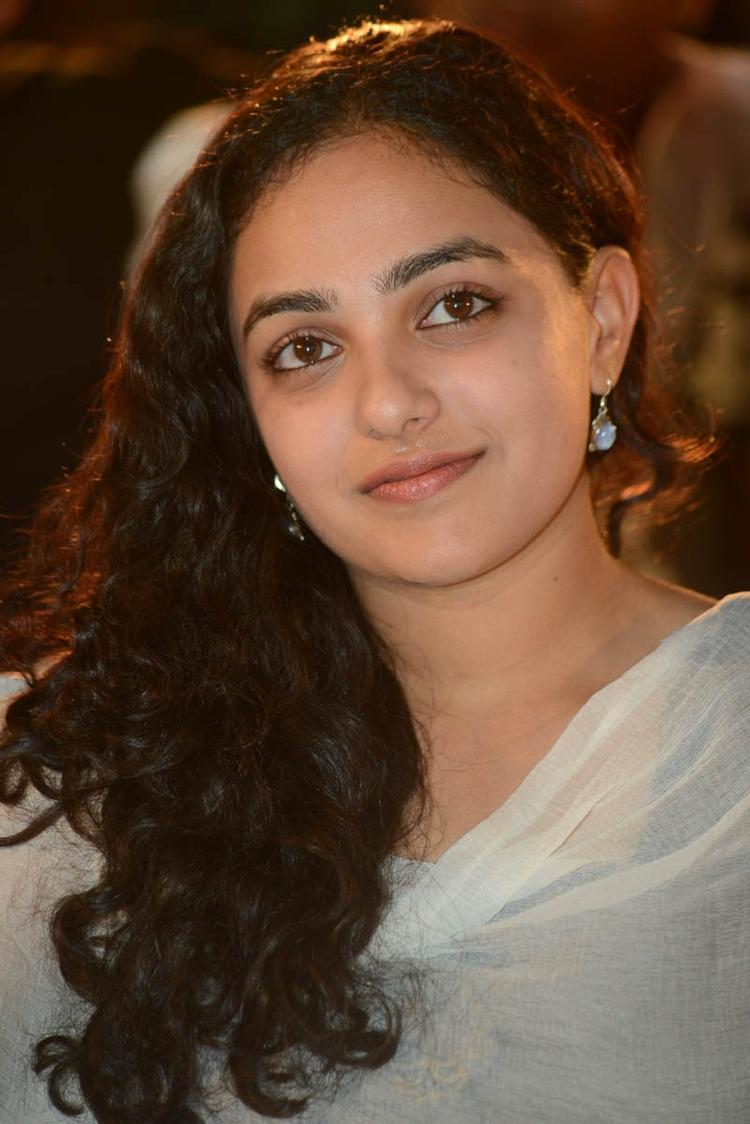 Nithya Menen Charming Face Look Still At Gunde Jaari Gallanthayyinde Movie Audio Release Function
