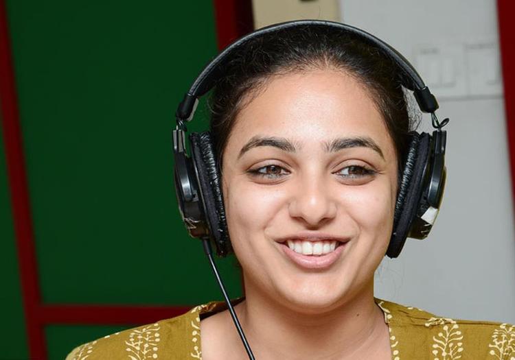 Nitya Menon Glamorous Look Photo Still At Radio Mirchi