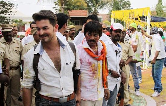 Neil Nitin Mukesh Smiling Still On The Sets Of Dussehra Movie