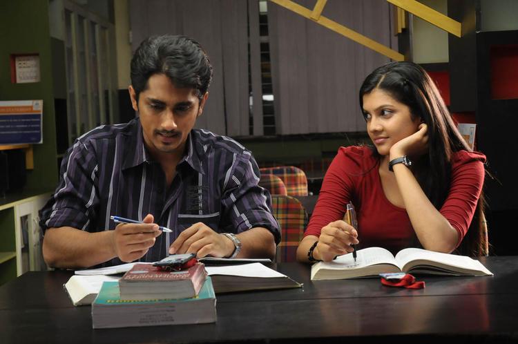 Siddharth And Ashrita Study Photo Still From Movie Udhayam NH4
