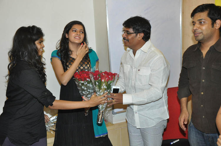 Ashritha And SubramaniamMake An Appearance At Udhayam NH4 Movie Audio Launch