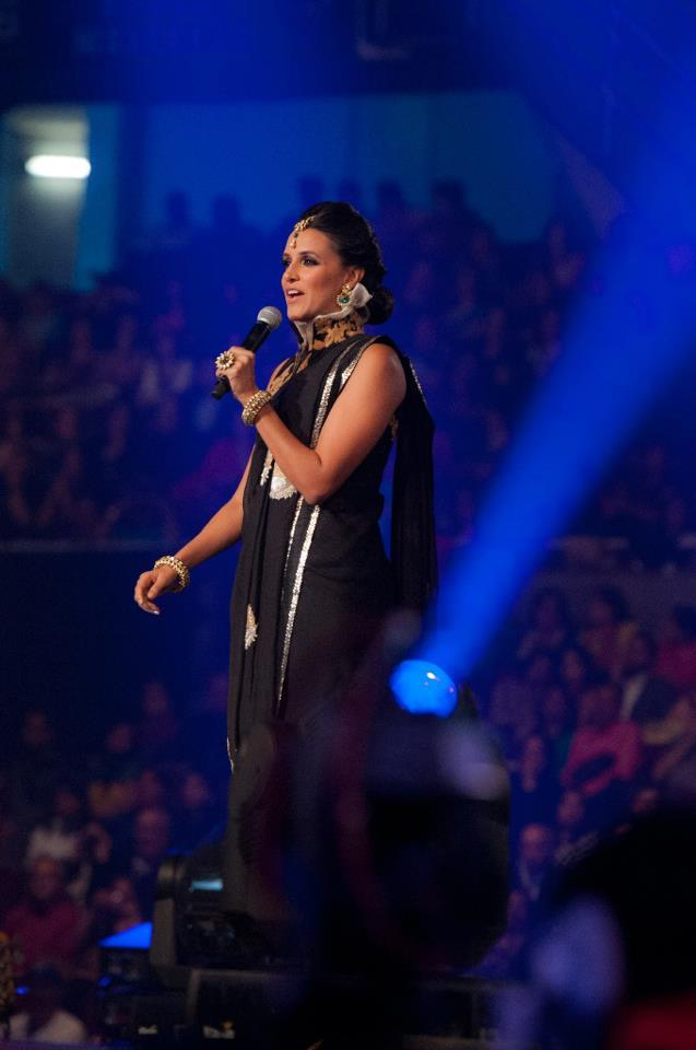 Neha Dhupia Speaking At The TOIFA 2013 Musical Extravaganza Function