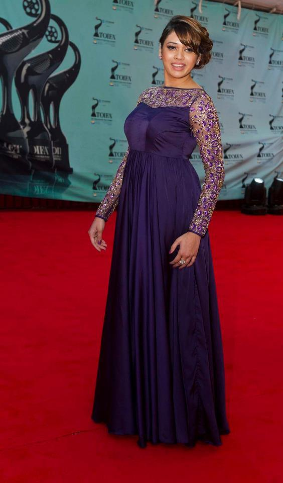 Shalmali Kholgade Charming Look In Red Carpet At TOIFA 2013