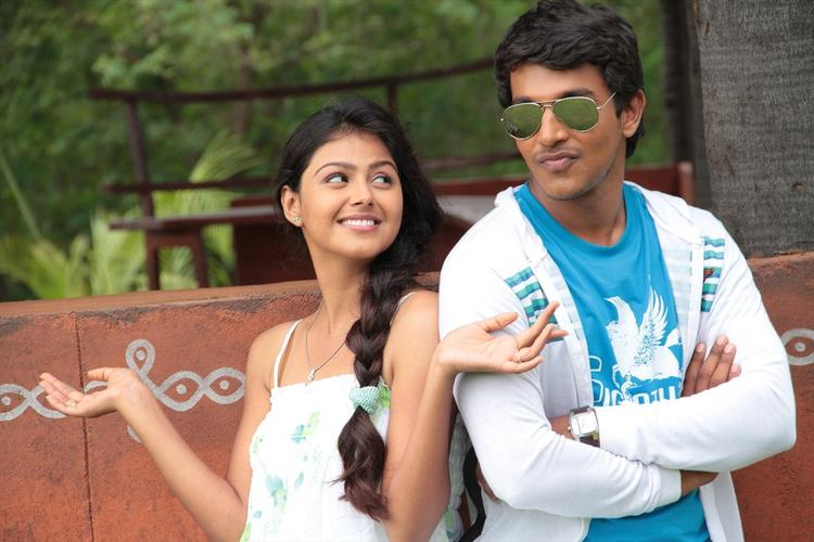 Monal And Sravan Dashing Look Photo Still From Oka Collage Story Movie
