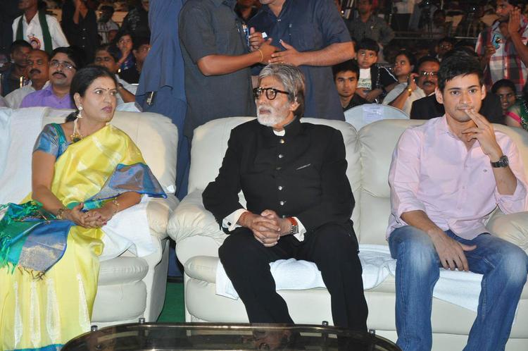 Amitabh Bachchan And Mahesh Babu At Nandi Awards 2011 Function