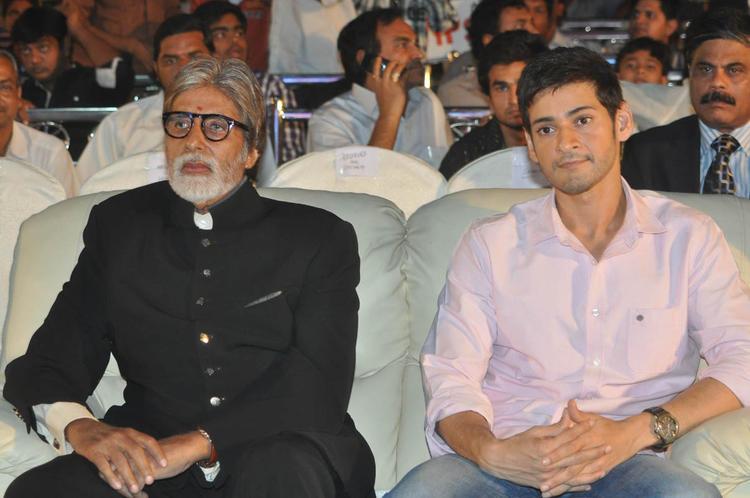 Amitabh Bachchan And Mahesh Babu Snapped At Nandi Awards 2011 Function