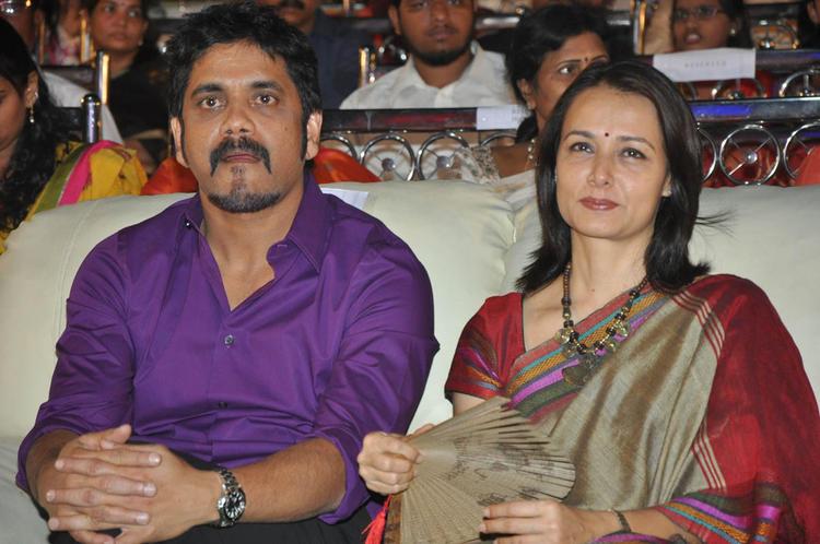 Nagarjuna With His Wife Amala Graced At Nandi Awards 2011 Function