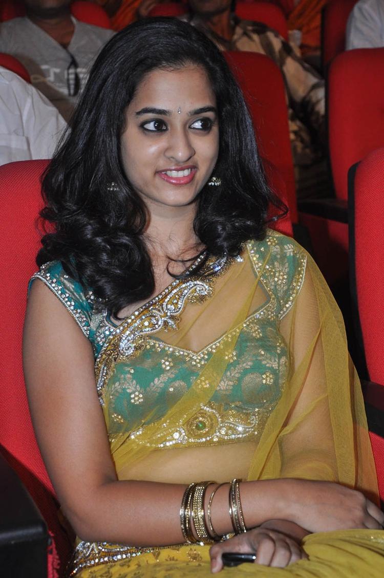 Nandita In Saree Cute Look At Prema Katha Chitram Audio Release Function