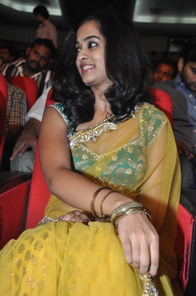 Nandita In Saree During The Prema Katha Chitram Audio Release Function