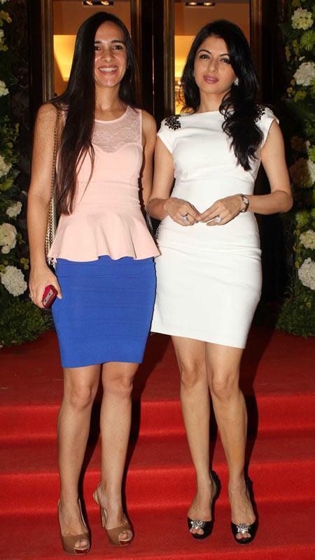 Tara Sharma And Bhagyashree Posed For Camera At Farah Khan Ali Store Launch Party
