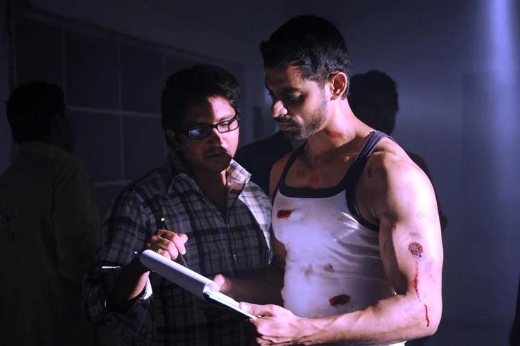 Bishnu Reading Script Photo Clicked On The Sets Of Telugu Movie Ek