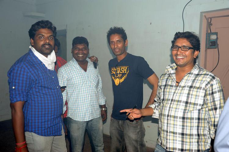 Crew Members Photo Clicked On The Sets Of Telugu Movie Ek