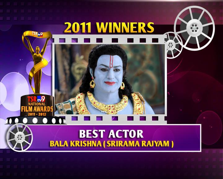 Balakrishna Is The Winner Of Best Actor For Sri Rama Rajyam Movie