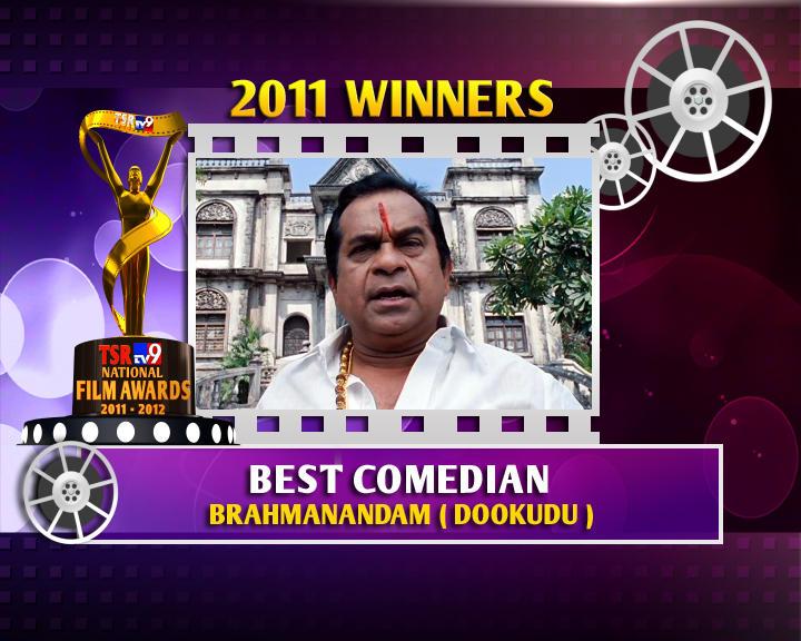 Brahmanandam Is The Winner Of Best Comedian For Dookudu Movie