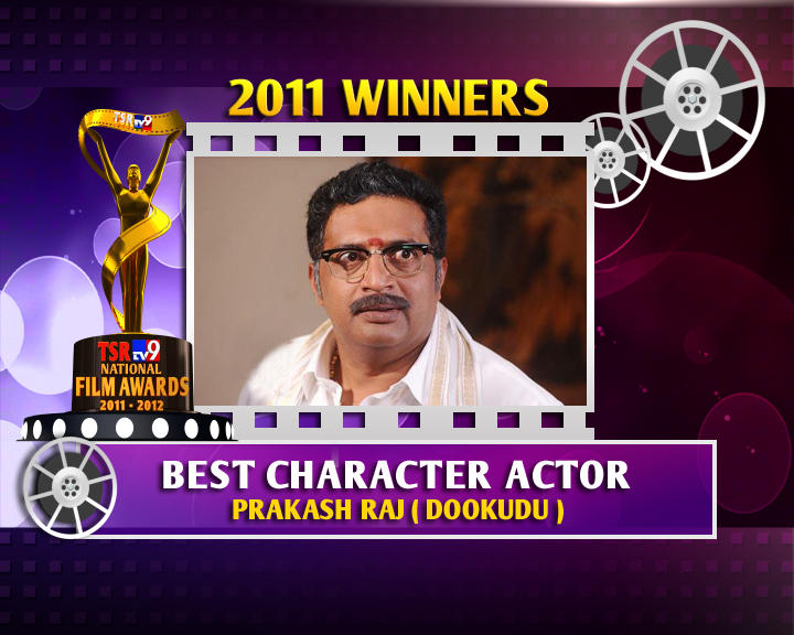 Prakash Raj Is The Winner Of Best Character Actor For Dookudu Movie