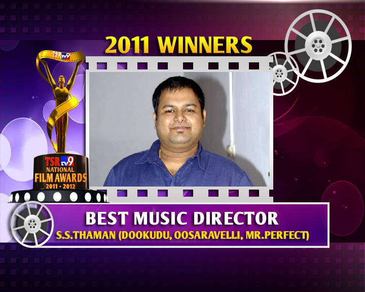 S. Thaman Is The Winner Of Best Music Director For Dookudu Movie
