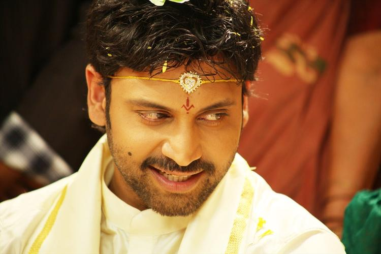 Sumanth In Groom Costume Photo Still From Movie Emo Gurram Egaravachu