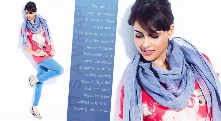 Genelia D'Souza Fashionable Look Photo Shoot For Myntra Star N Style Magazine April 2013