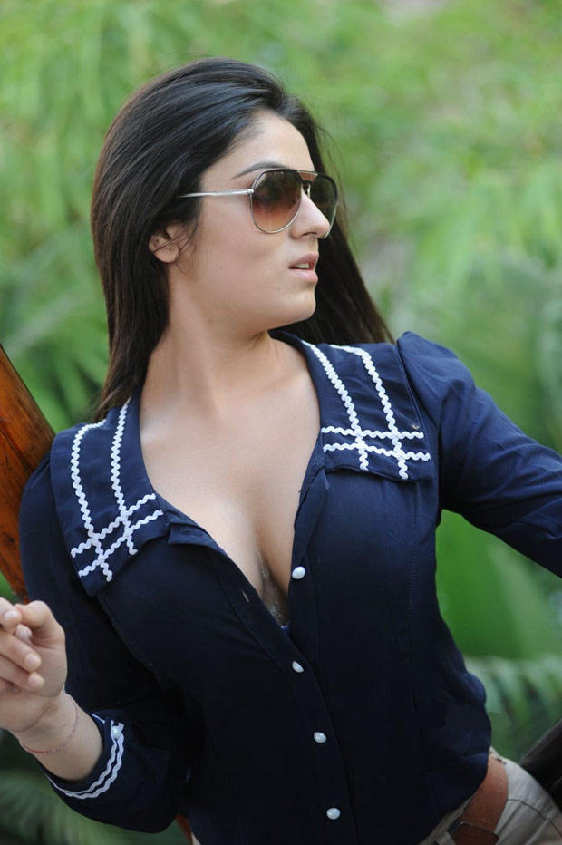 Lucky Sharma Spicy Pose Photo Shoot In Blue Top