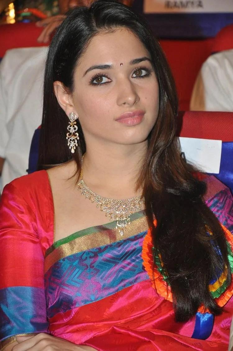 Tamannaah Bhatia Charming Face Look At TSR TV9 Film Awards Function