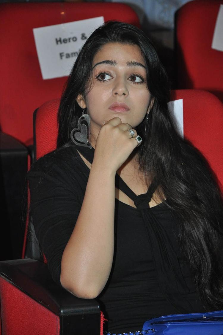 Charmy Kaur Charming Face Look At Iddarammayilatho Audio Launch Function