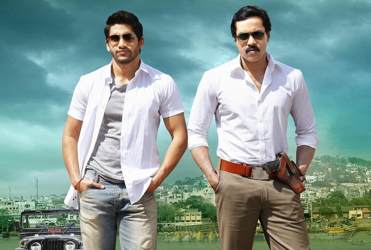 Naga Chaitanya And Sunil Action Still From Tadakha Movie