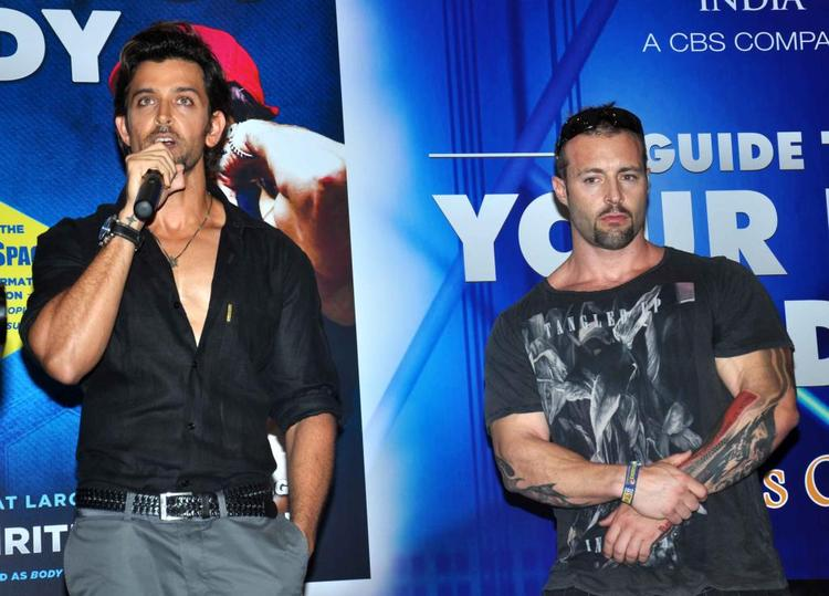 Hrithik Roshan Speaks During Fitness Book Your Best Body Launch Event
