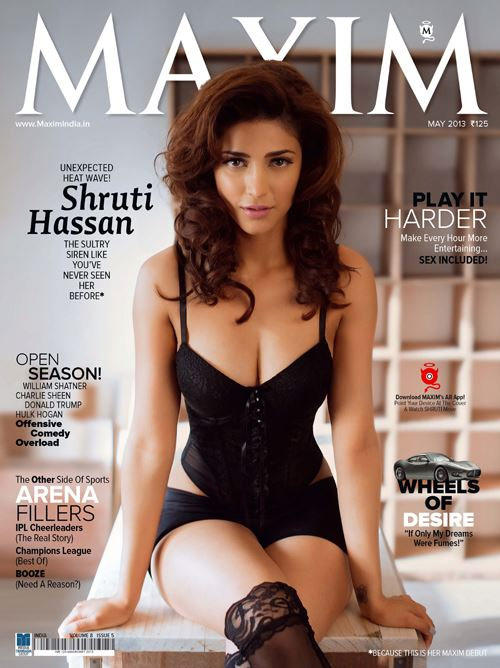 Shruthi Hassan On The Cover Of Maxim 2013