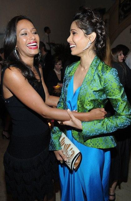 Freida Pinto Attends Maiyet Varanasi Silk Capsule Collection Private Dinner Hosted By Barney's at Consulate General Of India
