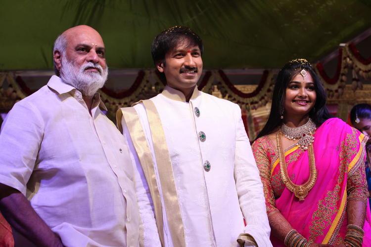 K Raghavendra Rao Attend Gopi And Reshma Wedding Bash