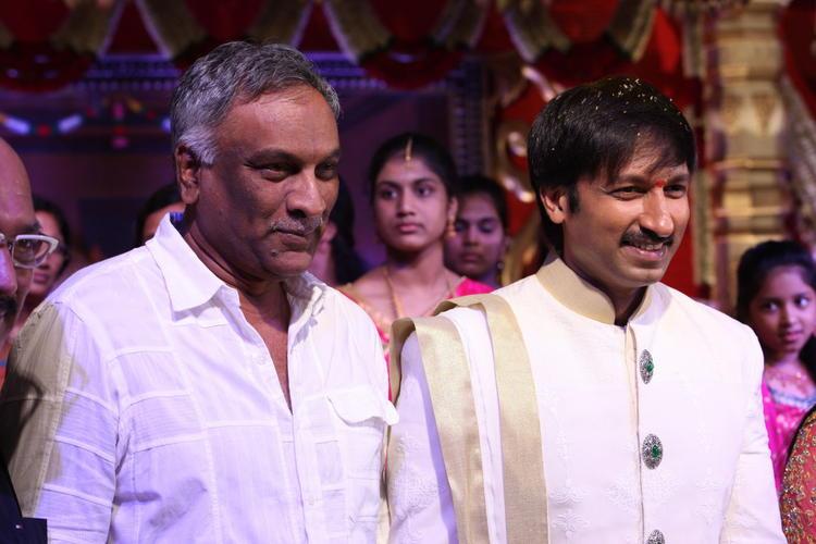 Tammareddy Bharadwaja Photo Shoot With Gopi Chand At His Wedding Bash