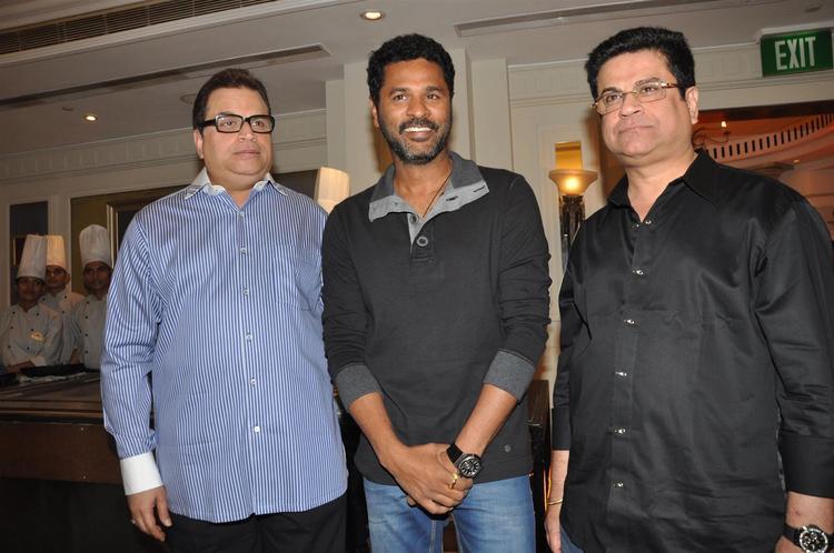 Kumar Taurani and Prabhu Deva at Ramaiya Vastavaiya Music Launch Event