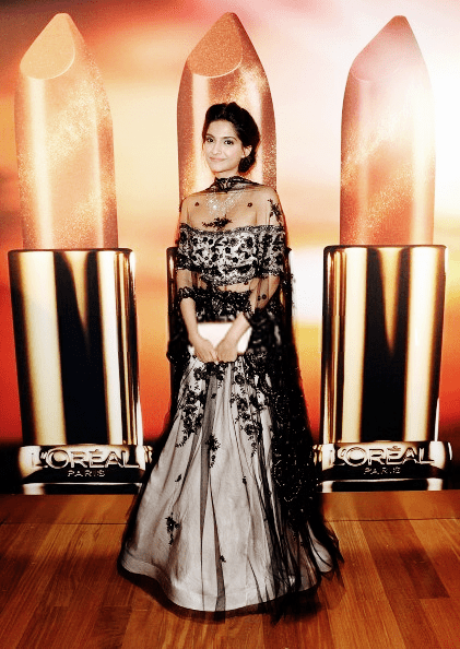 Sonam Kapoor Glamour Look At The Chopard Party At Cannes 2013