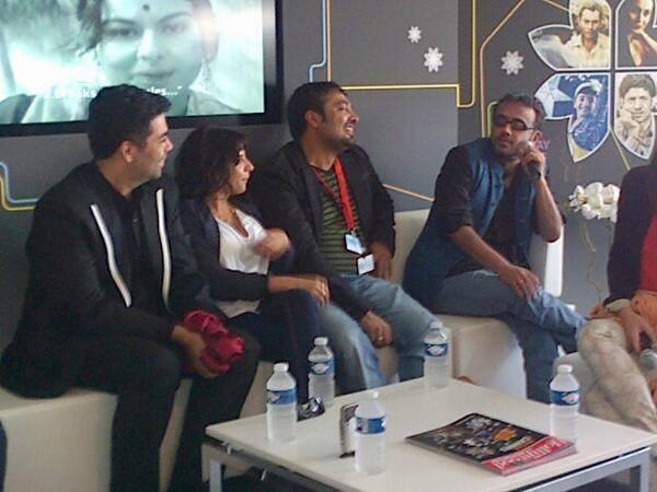Anurag, Dibakar, Karan and Zoya Akhtar At Press Conference Of Bombay Talkies at Cannes Film Festival