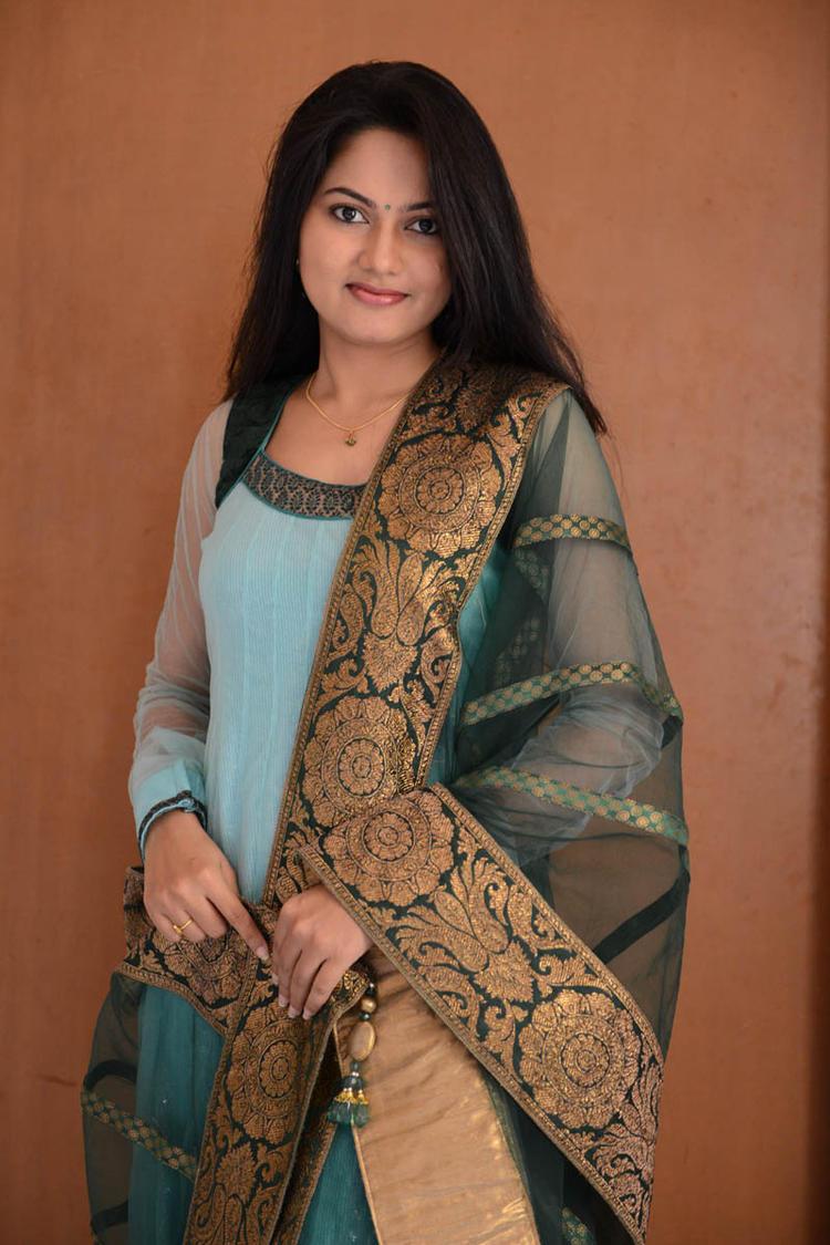 Suhasini In Chudidar Dress Beautiful Look At Rough Movie Logo Launch Event